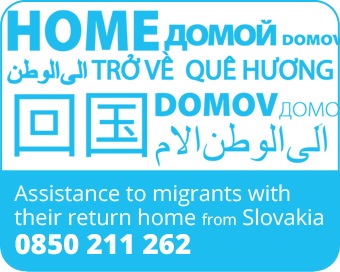 IOM - Assistance to migrants with their return home from Slovakia - Helpline 0850 211 262