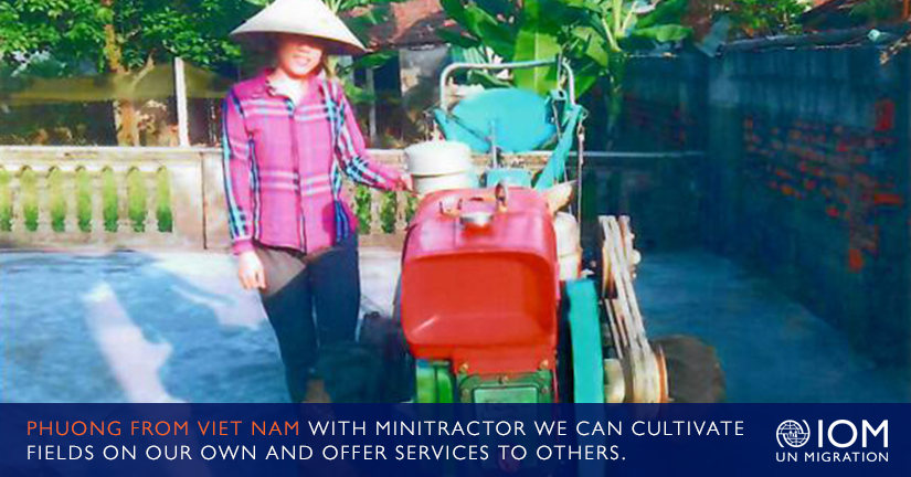 Phuong from Vietnam: With our Own Minitractor, We Can Cultivate Fields on our Own