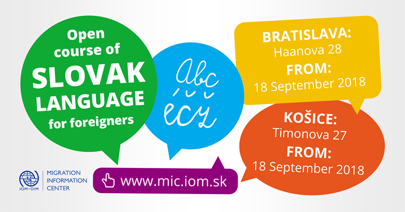 fda73b8c6 IOM MIC - The next cycle of Open Courses of Slovak Language for Foreigners  from September