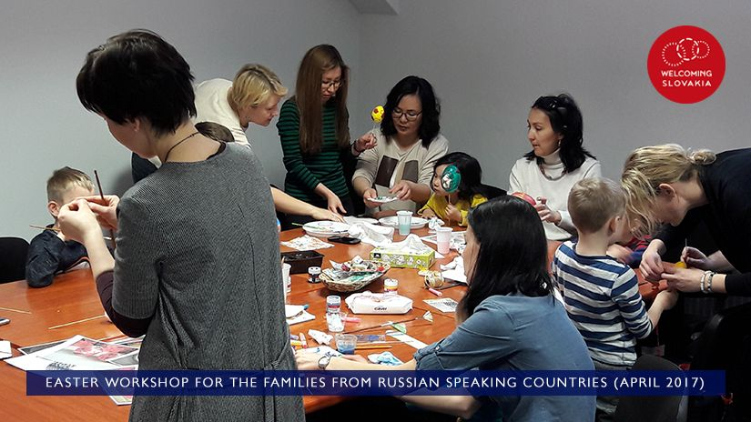 MIC IOM - Welcoming Slovakia - Easter workshop for the families from Russian speaking countries (April 2017)